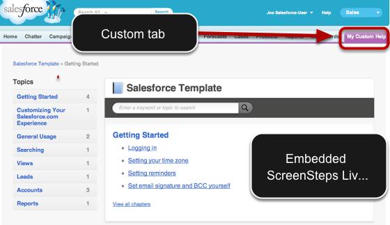 Custom Tab in Salesforce