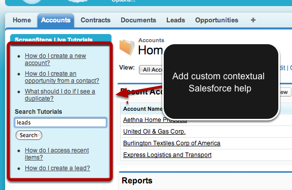 Salesforce ScreenSteps Live App
