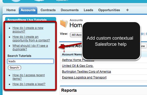 Salesforce ScreenSteps Live App
