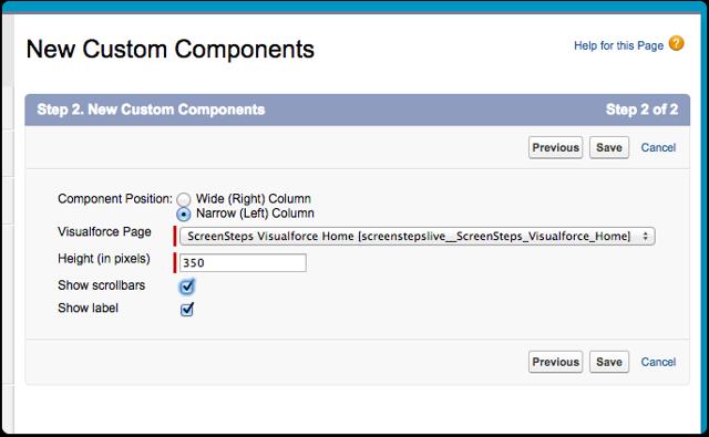 Configure the component