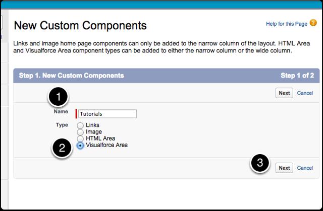 Create a Visualforce Area component
