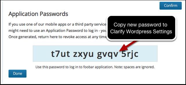 Password Generated