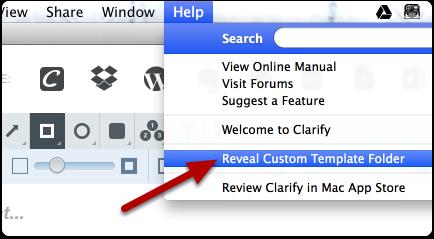 Reveal the Templates folder using the Help > Reveal Custom Template Folder menu option