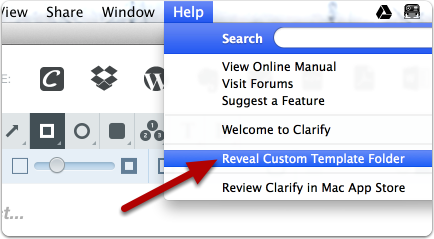Reveal the Templates folder using the Help > Reveal Custom Template Folder menu option