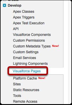 Navigate to App Setup > Develop > Visualforce Pages