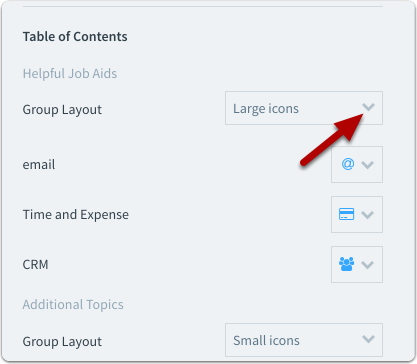 Click on the dropdown next to Group Layout