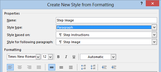 Create Step Image Style