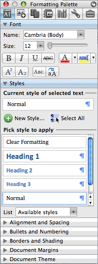 Add Styles to Document
