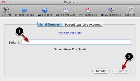 Enter Serial Number