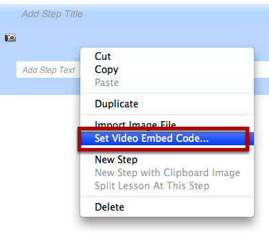 Add Embed Code To Step