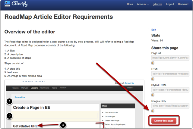 Option 2: Delete from your shared document sidebar