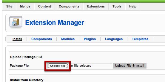 "Click on ""Choose File"""