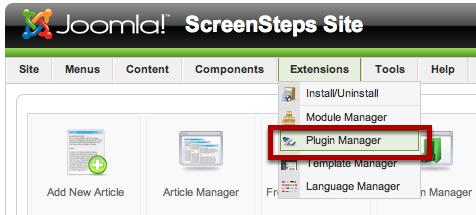 Plugin Manager Screen