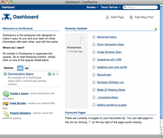 Open Your Confluence Dashboard
