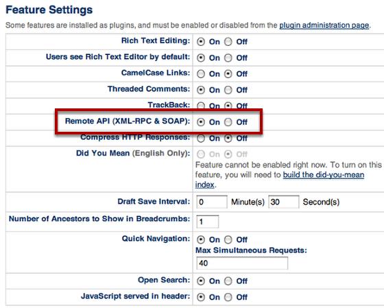 Enable Remote API