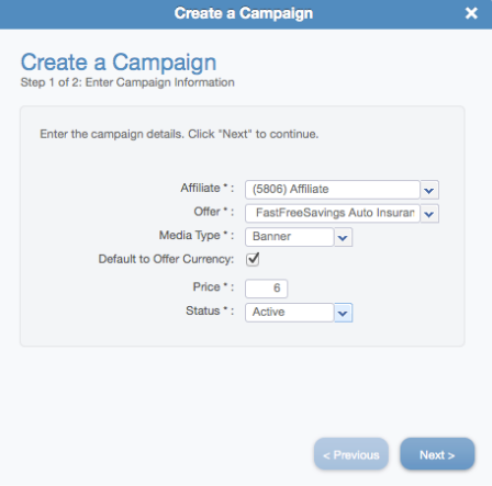 How to create a Campaign
