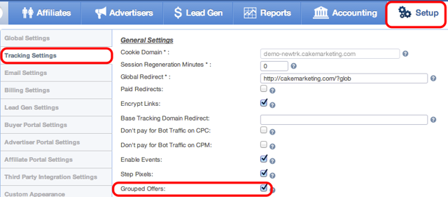 Enabling Grouped Offers
