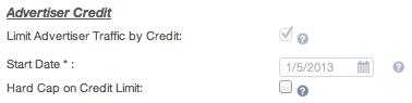 Advertiser Credit