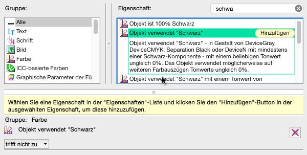 """Neue Prüfung konfigurieren: Von """"trifft nicht zu"""" ..."""