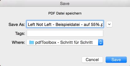 PDF-Datei unter neuem Namen sichern