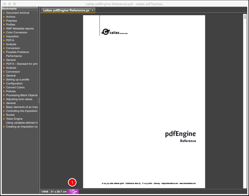 Inspect the PDF file