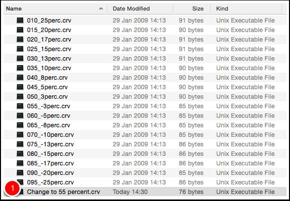 Modify existing dot gain curve setting file