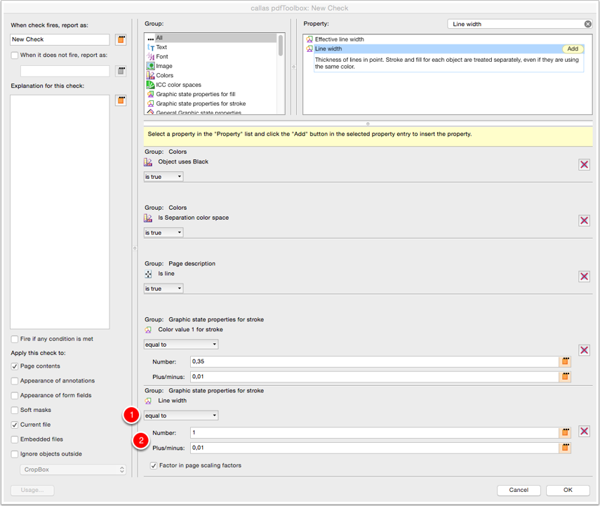 "Configure Check ""Line width"""