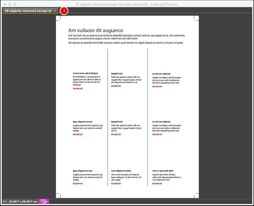 Close the processed PDF document