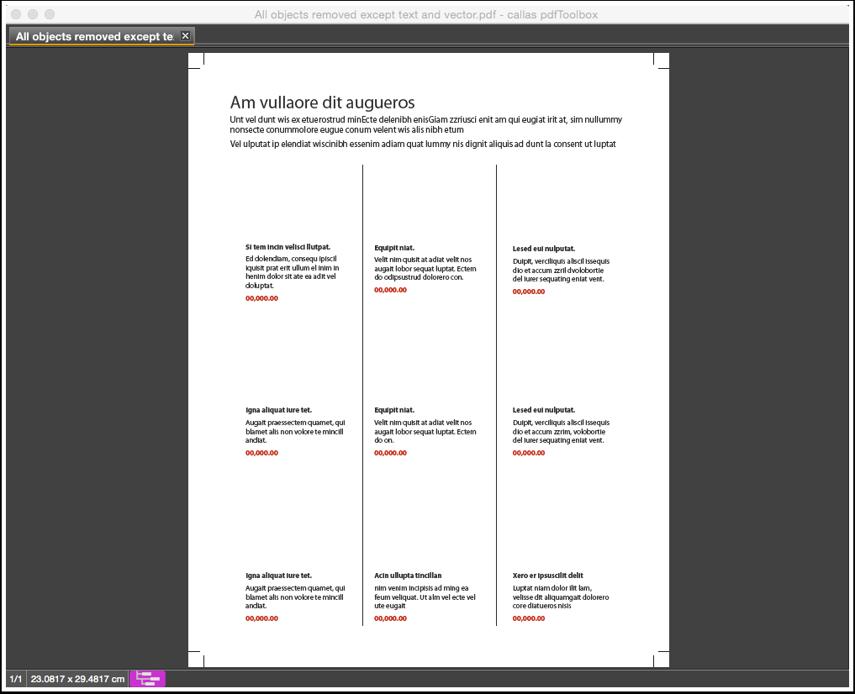The processed PDF document