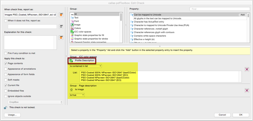 """Analyze imported Profile: Custom fixup """"Convert colors"""" objects check"""