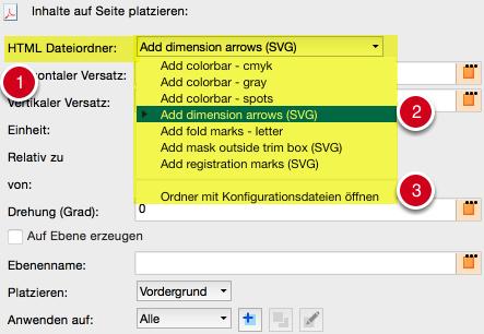 Beispiel für die Auswahl eines HTML-Dateiordners für die zu platzierenden Inhalte