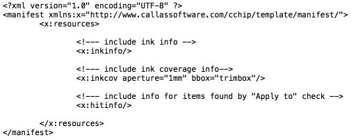 """Beispiel für den Inhalt einer """"manifest.xml""""-Datei mit maximaler Informationsanforderung"""
