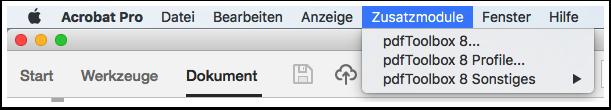 pdfToolbox als Acrobat Pro Plug-In