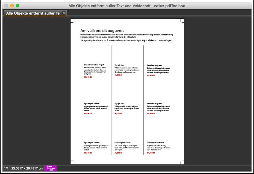 Die verarbeitete PDF-Datei –alle Bilder wurden entfernt