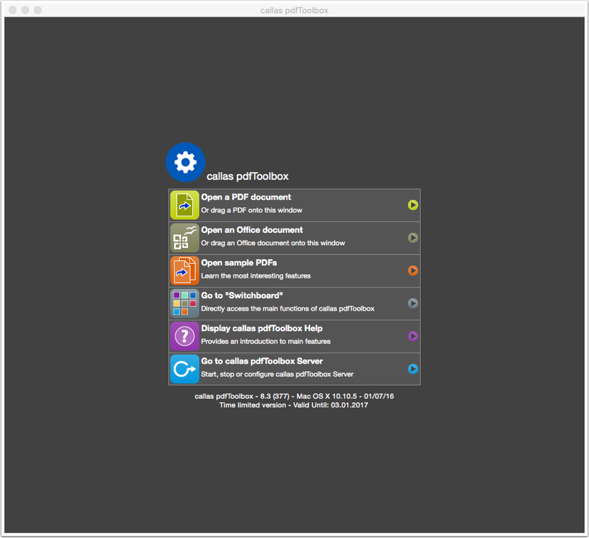 Launch pdfToolbox Desktop