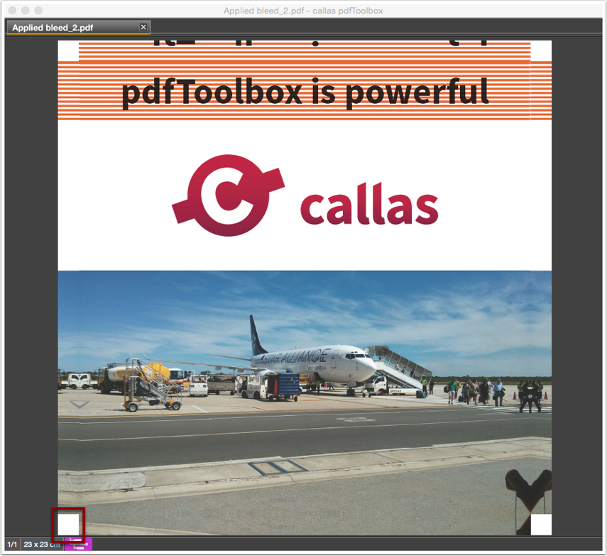 """Analyze the processed PDF file after applying Fixup """"Generate bleed from CMYK and spot color (edges)"""""""