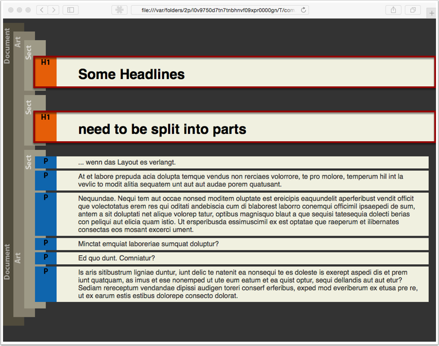 Analyze the PDF/UA-1 file structure