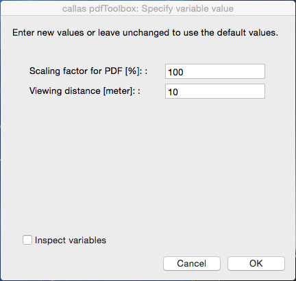 """The """"Ask at runtime"""" in pdfToolbox Desktop"""