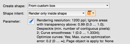 Shapes based on a custom defined box