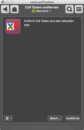 CxF-Daten aus einer PDF-Datei entfernen