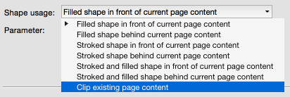Use shape as clipping path for existing page content