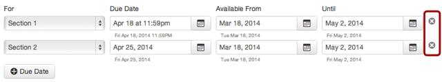 Remove Due Dates