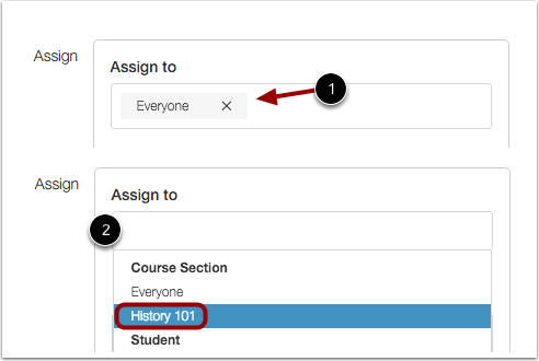 Assign to Section or User