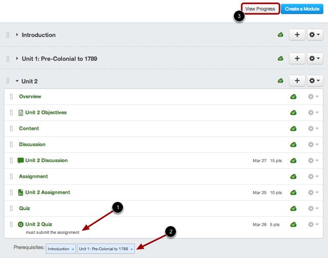 Click View Progress Button