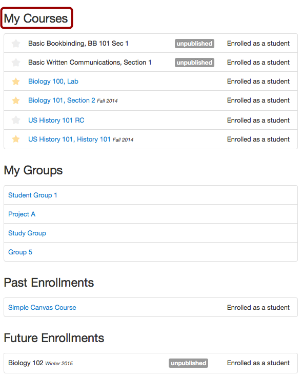 View My Courses