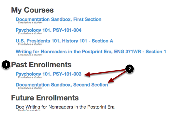 Past Enrollments
