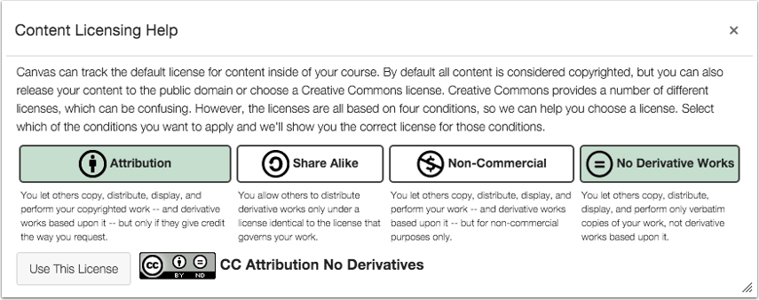 No Derivatives