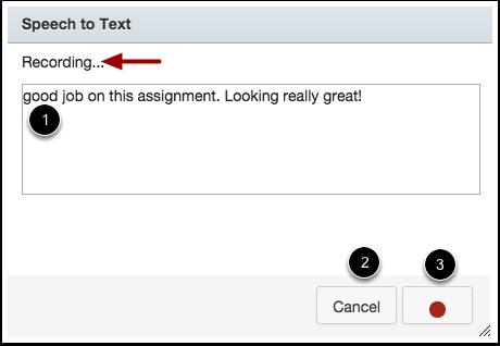 View Speech-to-Text Dialog Box