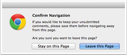View Unsaved Changes Warning