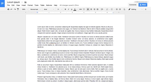Create Google Document